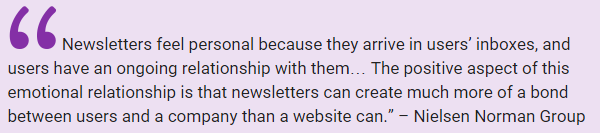 Newsletters are personal