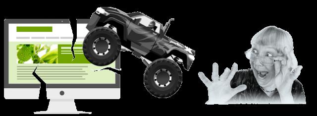 Gardening and monster trucks