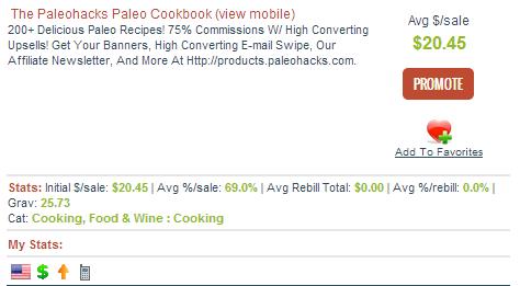 PaleoHacks Paleo Cookbook Affiliate Program