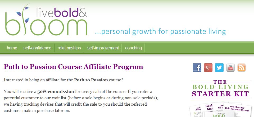 Path To Passion Affiliate Program