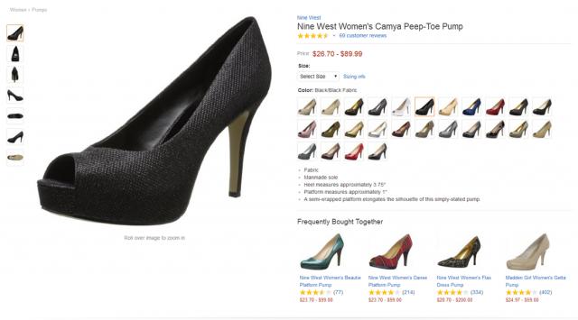 Amazon product page