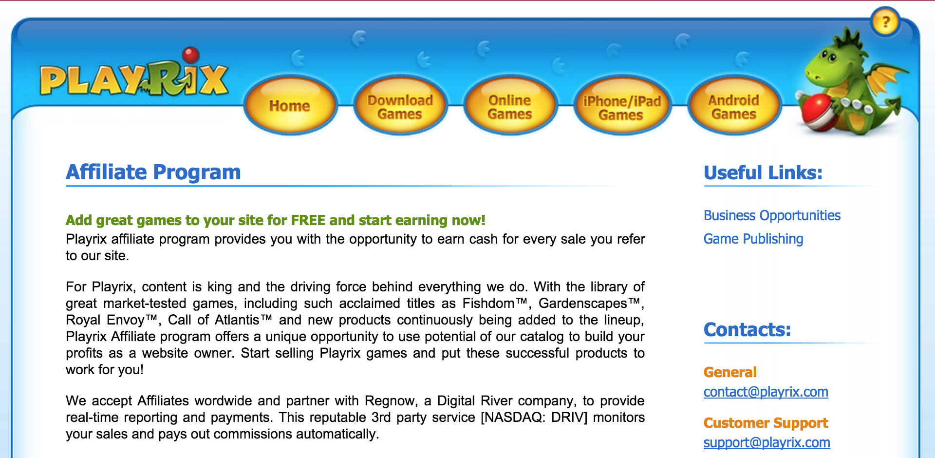 Playrix - Online Games Affiliate Programs