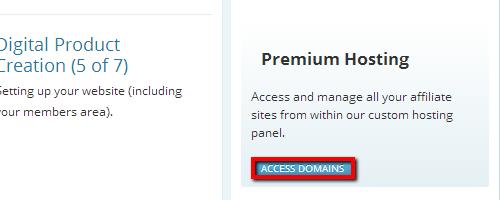 Premium Hosting Sidebar