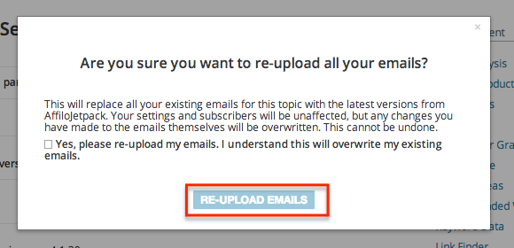 Re-upload Confirm Button
