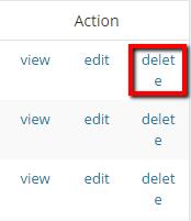 Delete Link - Redirect