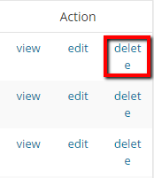 Delete Link - Redirect