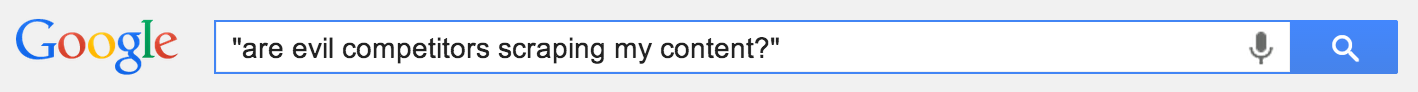 content scraping