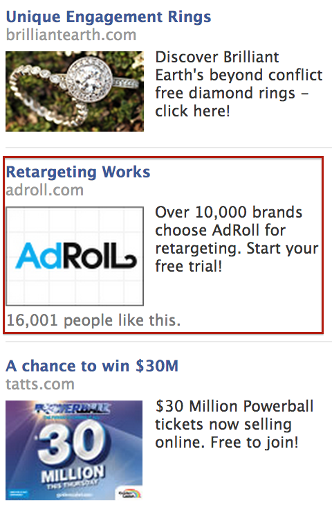 Remarketing ad