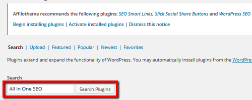 All In One SEO - Search