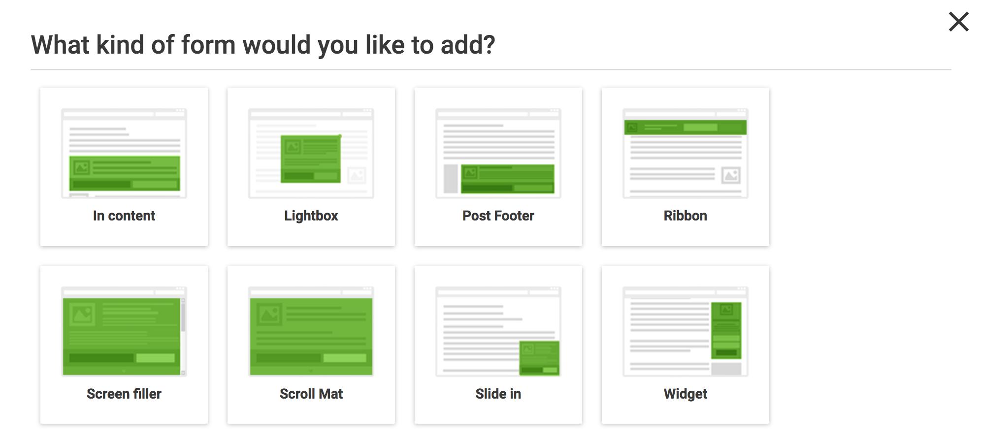 Select Form - Thrive Leads FAQ