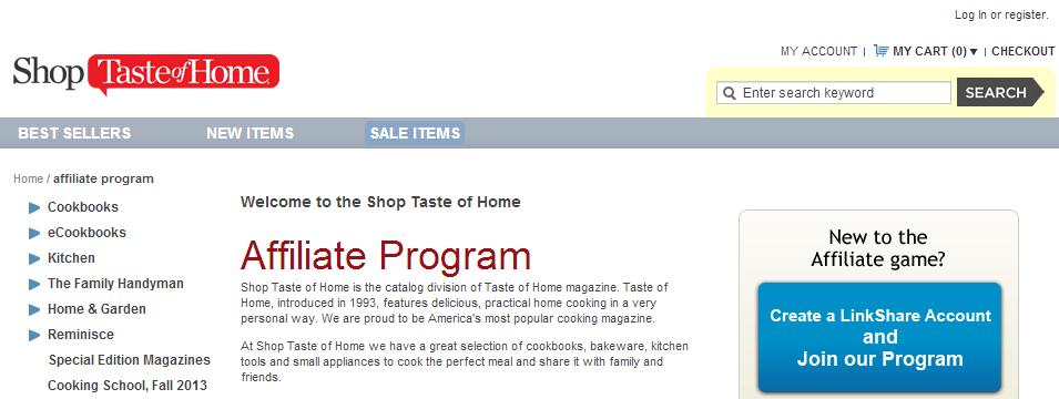 Shop Taste of Home Affiliate Program