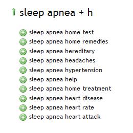Sleep Apnea - Ubersuggest H