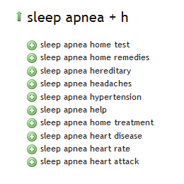 Sleep Apnea - Ubersuggest H