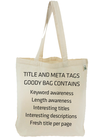 Title Tag & Meta Description Goody Bag