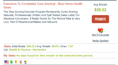 Stop Snoring Affiliate Programs - ClickBank