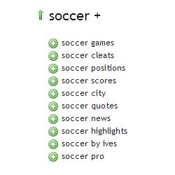 Soccer - Ubersuggest