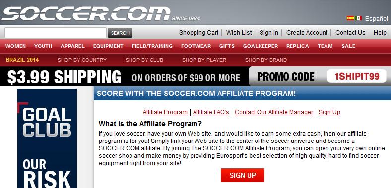 Soccer.com - Soccer Affiliate Programs