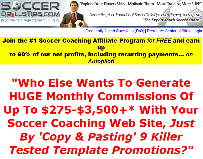 Soccer Drills Tips - Soccer Affiliate Programs