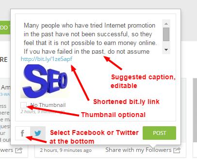 posting options