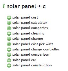 Solar Panel - Ubersuggest Results