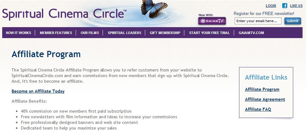 Spiritual Cinema Circle - Spiritual Affiliate Programs