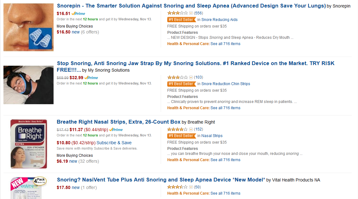 Stop Snoring Products - Amazon