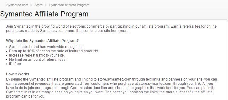 Symanted Antivirus Affiliate Program