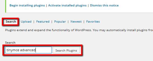 Search - TinyMCE Plugin