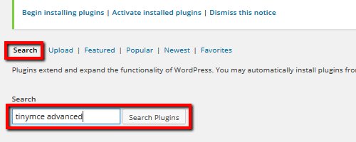 Search - TinyMCE Plugin