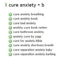 Ubersuggest Cure Anxiety Results B