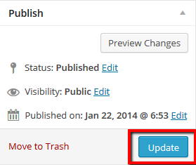 Update - Wordpress