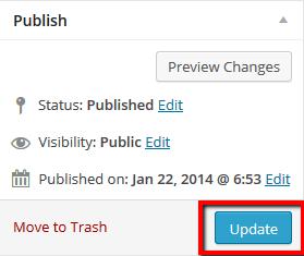 Update Post - Wordpress