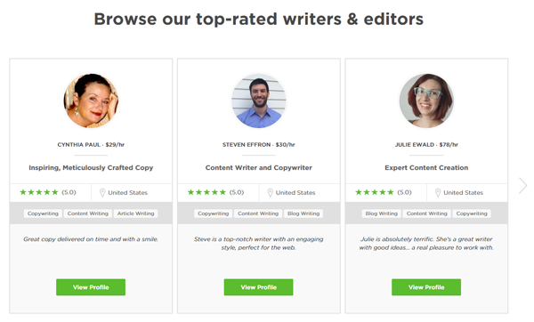 Upwork Writers