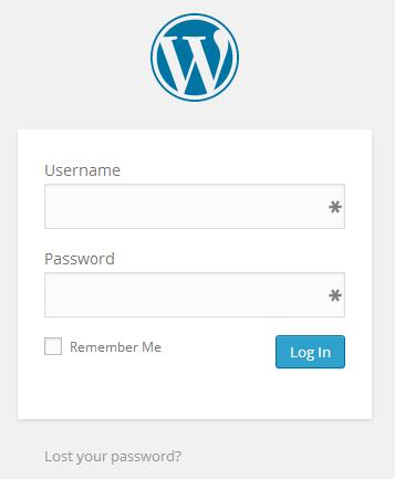 Wordpress Login Page 3.9.1
