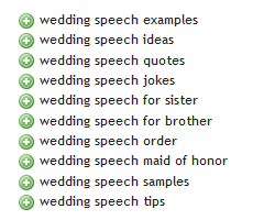 Wedding Speech 1 - Ubersuggest Results