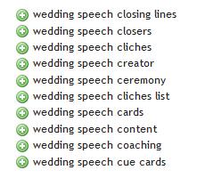 Wedding Speech 2- Ubersuggest Results
