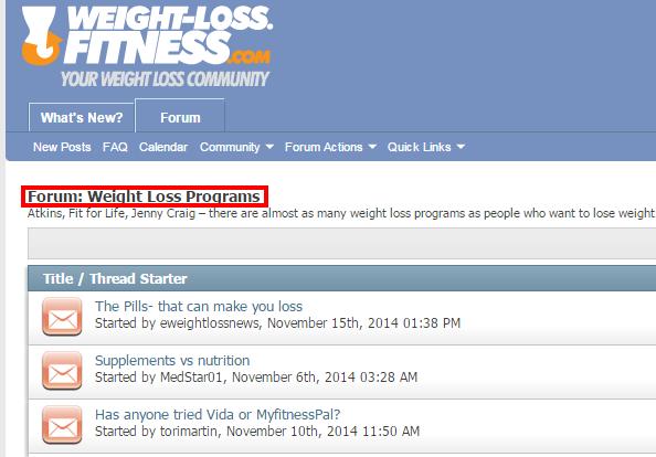 weight loss forum
