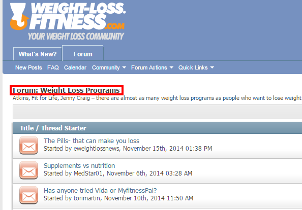 weight loss forum