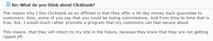 Clickbank forum review