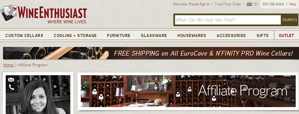 WineEnthusiast.com - Wine Accessories Affiliate Programs