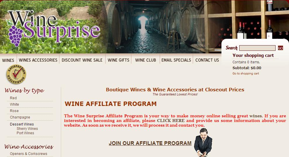WineSurprise.com - Wine Aerators Affiliate Programs