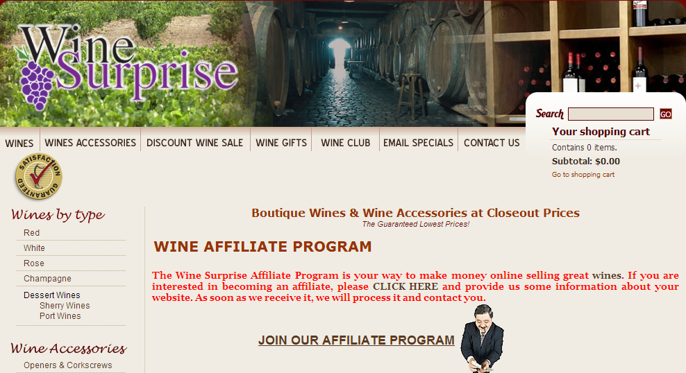 WineSurprise.com - Wine Aerators Affiliate Programs