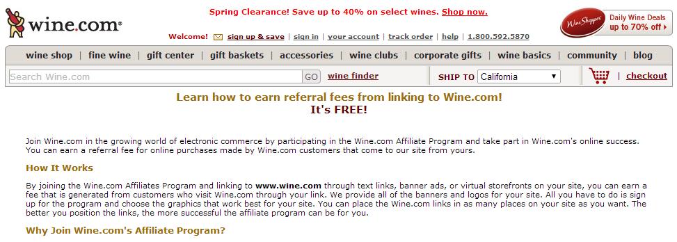 Wine.com Wine Affiliate Program