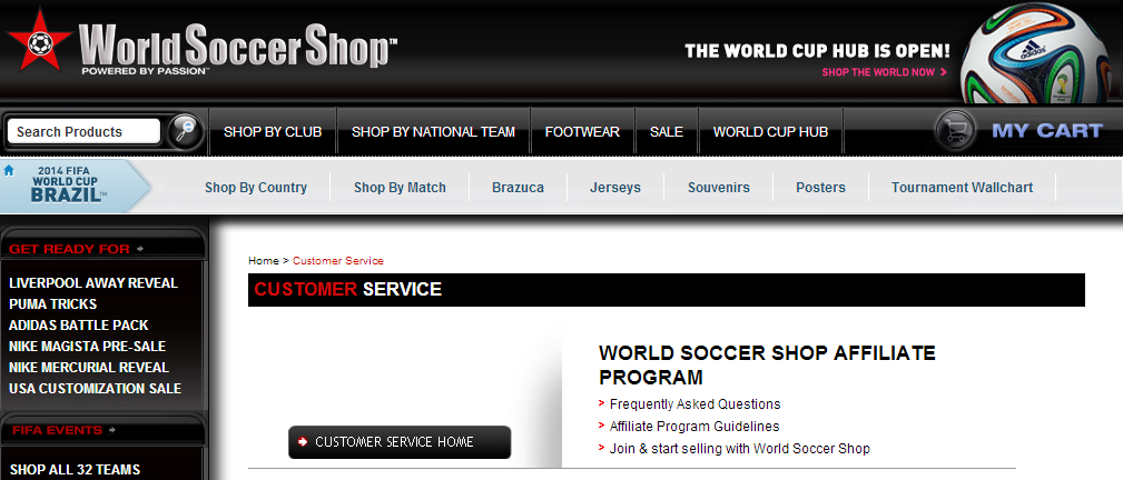 World Soccer Shop - Soccer Affiliate Programs