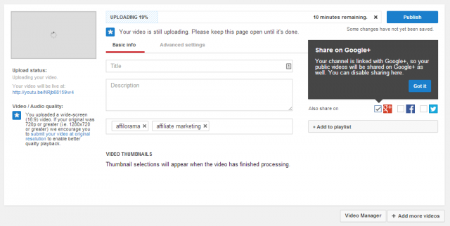 youtube title and description