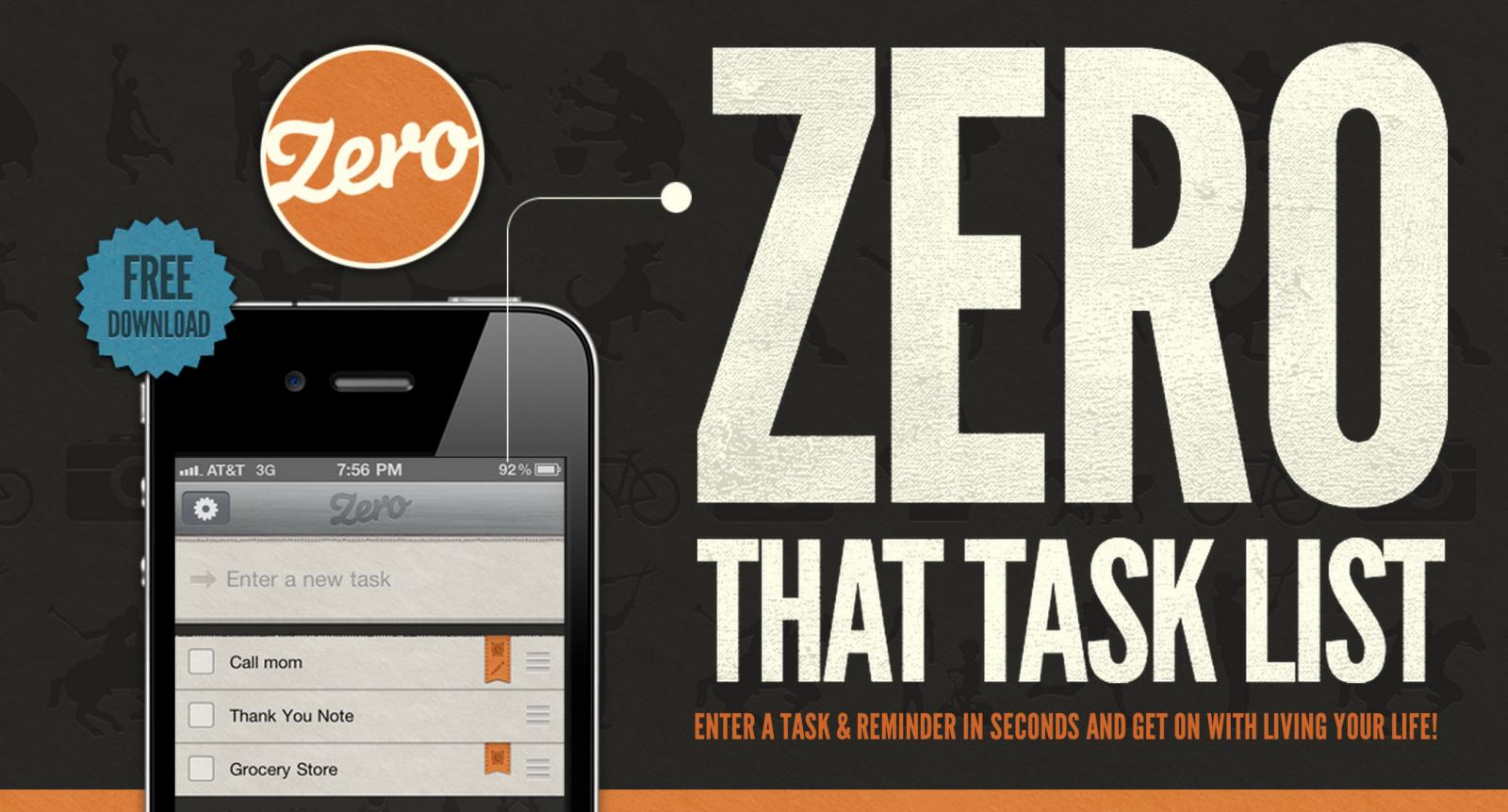 zero app typography