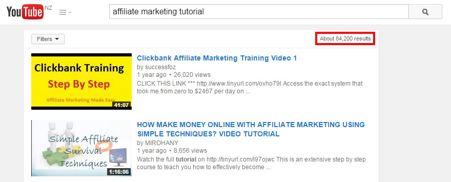 affiliate marketing tutorials