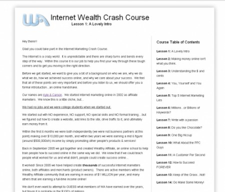 Wealthy Affiliate Free Course