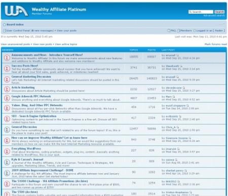 Wealthy Affiliate Forum