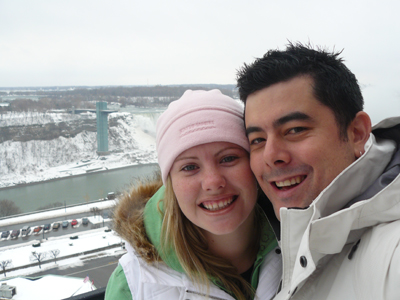 Michelle and I with Niagra Falls in the background
